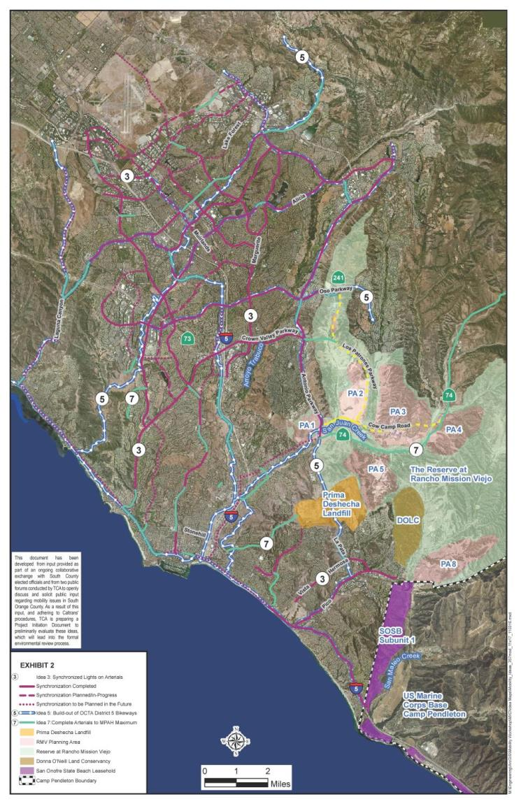 Toll Road Extension Information City Of San Clemente CA - Us map with toll roads on it