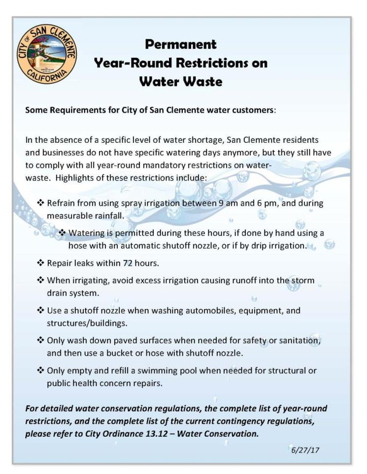 Year Round Restrictions June 2017