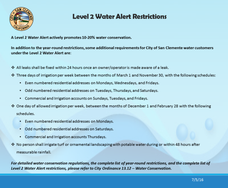 Level 2 Restrictions