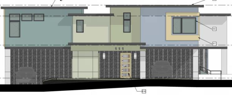 1 - Cover Photo Front Elevation - La Ronda 6-plex