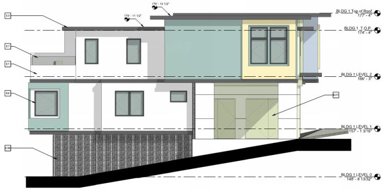 Left Elevation - La Ronda 6-plex