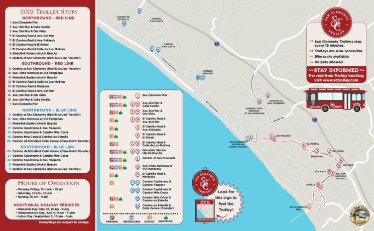 San Clemente Trolley | City of San Clemente, CA on trolley map san francisco, miami trolley system map, san diego zoo map, trolley route in dallas, charlotte light rail map, trolley bar map, pittsburgh trolley map, denver light rail map, trolley trail map,