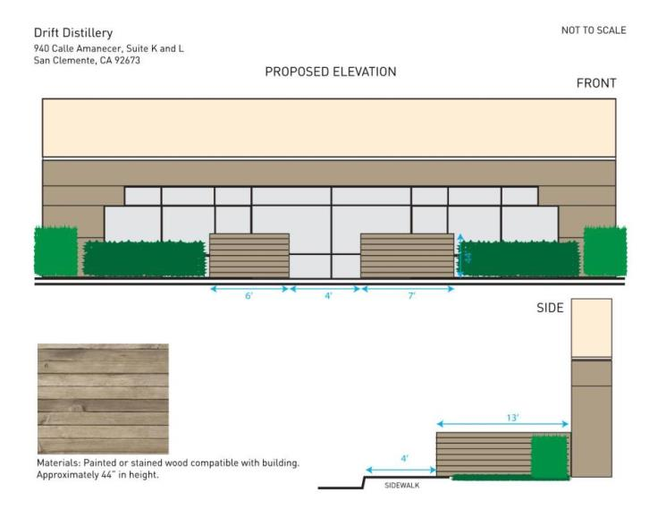Front and Side Elevation - Drift Distillery Expansion