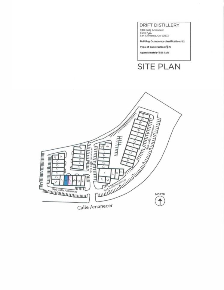 Site Plan - Drift Distillery Expansion