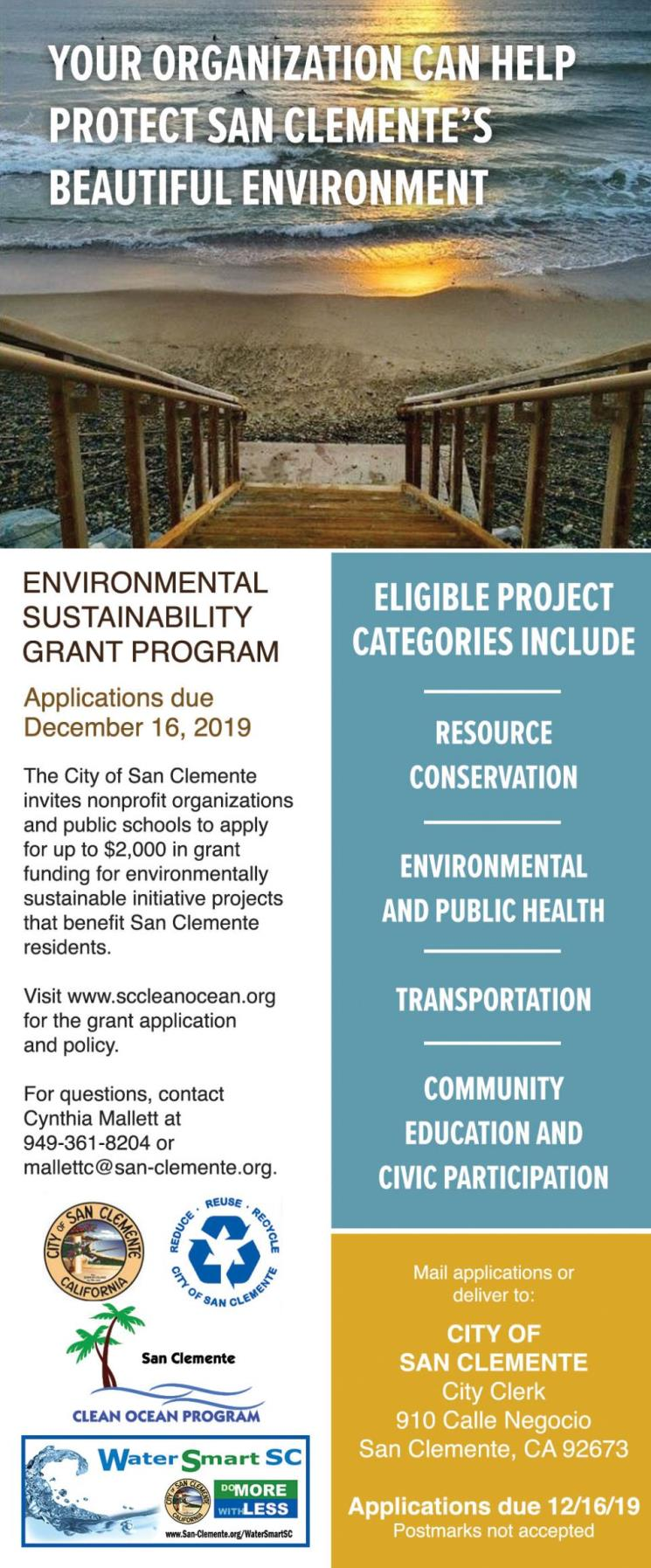 Enviro Grant Program Announcement 20191216