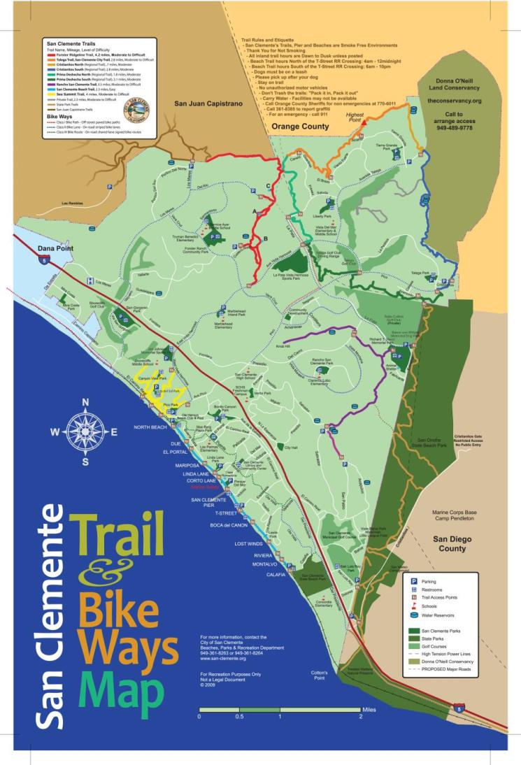 Trails & Hiking | City of San Clemente, CA on doheny sb campground map, doheny state beach camping map, doheny campsite map, mueller state park campground map,